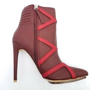 "GX Gwen Stefani Booties Sz 9 Bordeaux Red 5"" Heels"